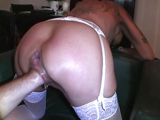 House guest fuck sleeping wife